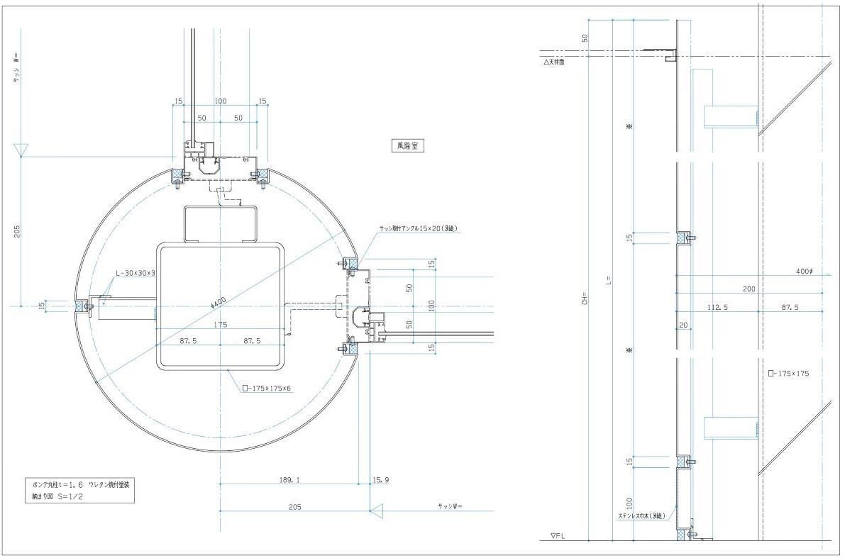 柱型 納まり CADデータ